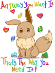 Eevee Print by Drizzle-The-Glaceon