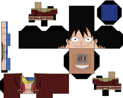 Pirate King Luffy by hollowkingking