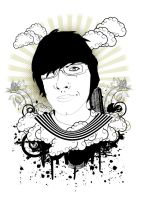 my t-shirt design by hiro2satu