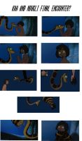 Kaa and Mowgli Final Encounter? by pasta79