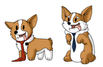 Corgi Missionaries by Saronicle