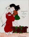 Inuyasha + Kagome from ch 558 by Risa-chan22