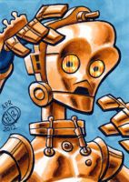 C3PO Sketch Card by Chad73