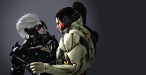 Metal Gear Rising Revengeance Raiden and Sam by miza-ky