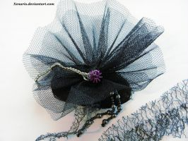 Gothic hairpin/fascinator by Xenaris