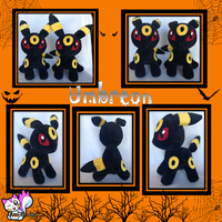 Minky Umbreon Plushie *Sold* by Ami-Plushies