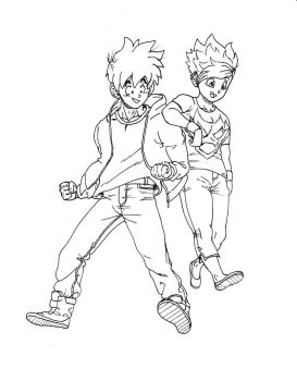 Some Gohan and videl art by burNiNgFro