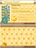 PKMN Crossing App: Riley by BlaerLightBreeze