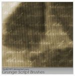 Grunge Script Brushes by Scully7491