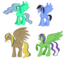 Older Pegasus Pony Adoptables by Rain-Approves