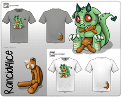 Cute Monsters T-Shirt design by RancidAlice