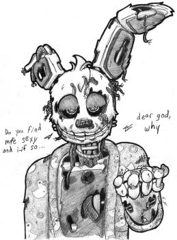 Springtrap has a Question by lilttemiss