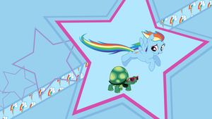 Rainbow Dash Pet [Wallpaper] by SimonOrJ