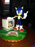 MY Sonic the hedgehog 20th anniversary statue by SONICJENNY
