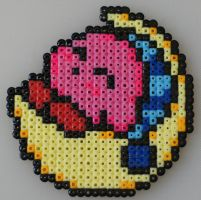 Sleeping Kirby Bead Sprite by Nicolel12