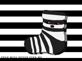 Stealthy Striped Sock by octobomb