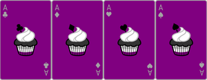 Ace Deck 71: Cupcake+Purple+Grey by Galadnilien