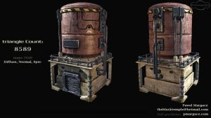 sci fi silo low poly by pmargacz