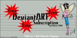 Free dA subscription 2nd Edtn by DxButterfly