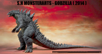 S.H Monsterarts - Godzilla 2014 by GIGAN05