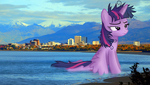 Welcome to Alaska! - Giant Twilight Sparkle by FlutterbatIsMagic