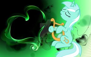 Saint Valentines Day Beautiful Green Lyra by AngelCARMINE