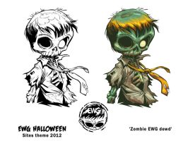 Zombie dEWd art by EryckWebbGraphics