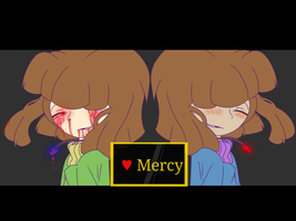 (UnderTale) Chara and Frisk WALLPAPER by Sofi2256