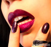 luscious lips by DeathBirdModel