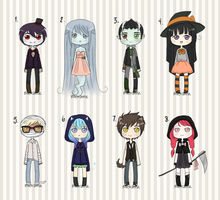 Chibi Monster Adoptables by Holly-Alice