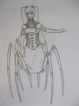 Steampunk Spider Girl by lyvinzyith