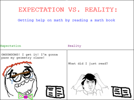 Expectation Vs Reality: Reading a Math Book by NinjaFalcon90