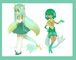 Sketchy Aquatic Adopts [closed/pending] by beartachi