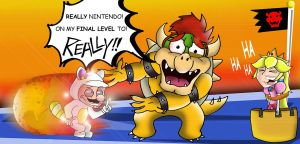 Bowser react too invincibility leaf by xeternalflamebryx