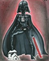 Lady Darth Vader by dsoloud