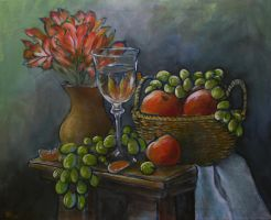 Still life with flowers by Boias