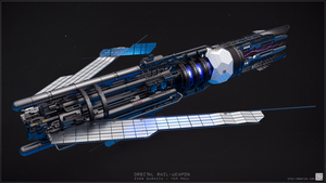 Orbital Rail-Weapon 3/4 back by EdonGuraziu