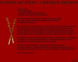Chocolate Bacon Pocky recipe by UtterPsychosis