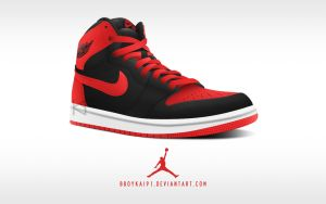 Air Jordan 1 Retro High OG 'Bulls' ver. 2 by BBoyKai91