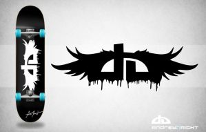 DeviantArt Logo Skateboard by loveisarevolution