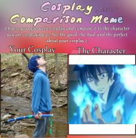 Cosplay Meme- Rin Okumura by Gold-Ignika