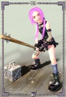 Liliha 3D with Bat by Konartist3D