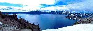 Crater Lake Panorama 2 by jldyr