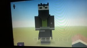 Toby the Assassin OC Minecraft statue by Tobaretheus