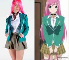 Moka cosplay from Rosario Vampire by pgmorin