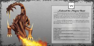 Xiuhcoatl the Magma Beast by TakemaKei