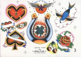 Tattoo Flash set 1, sheet 3 by xxxcaomacoxxx