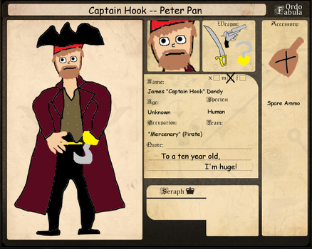 Ordo-Fabula App - Captain Hook by Madmandrag00n
