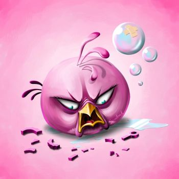 Pink Angry Bird by Scooterek