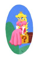 Princess Peach by KeithAErickson